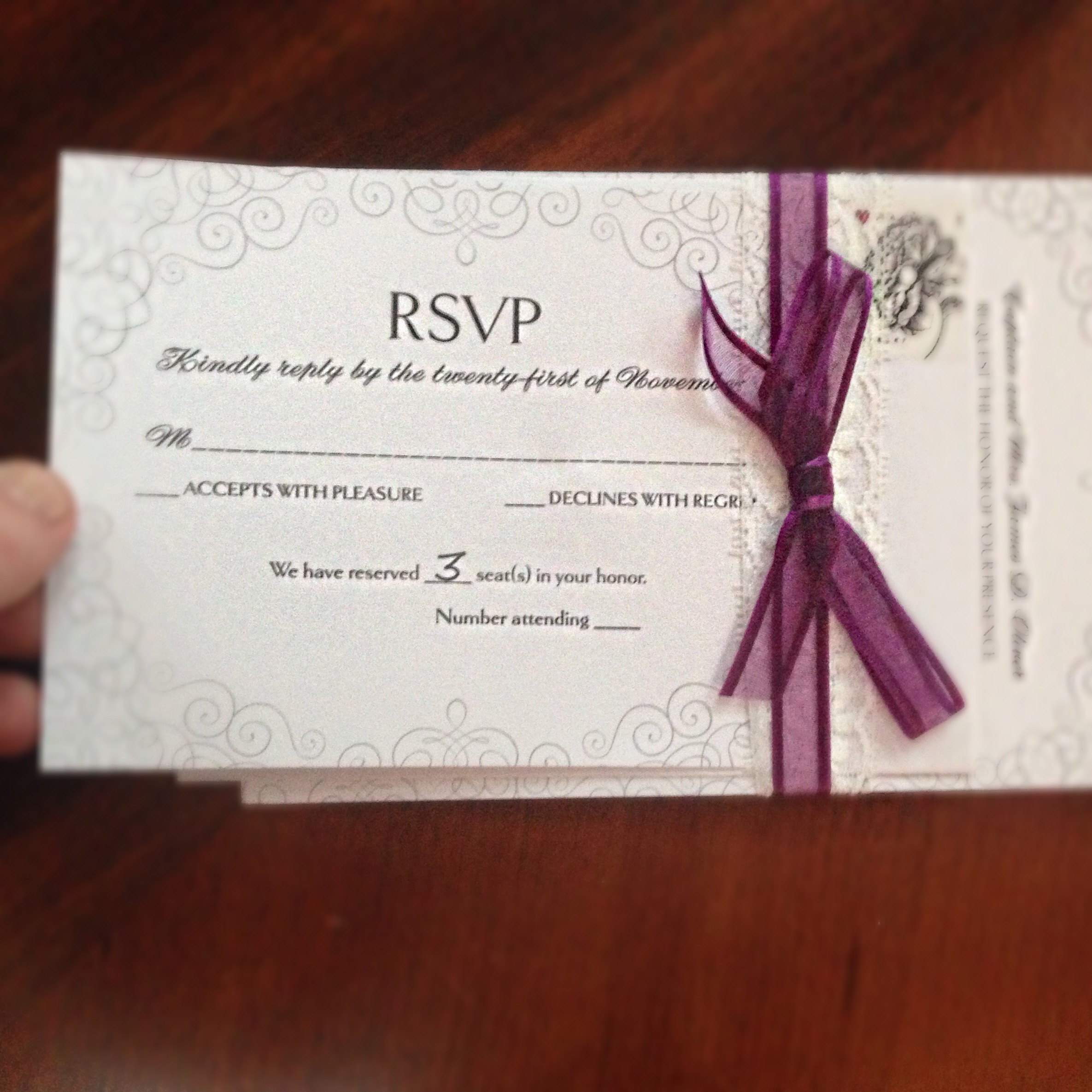 Wedding invitations rsvp cards what does the m mean for Rsvp stand for on an invitation